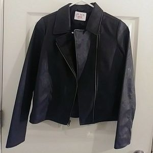 Kids Faux Leather Riding Jacket